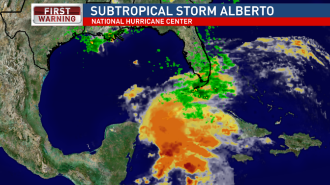Alberto Brings Flood Watches To Gulf Coast