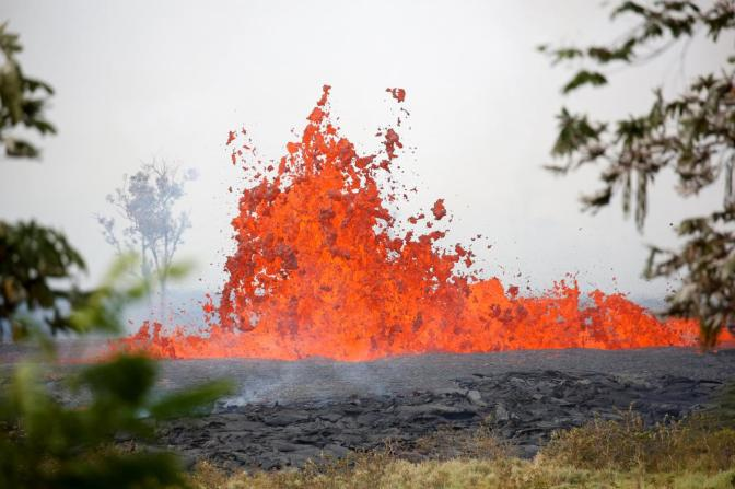First Lava Injury Reported