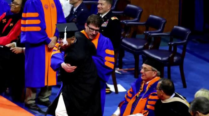 UF Administrator Seen On Video Moving Dancing Graduates Off Stage On Paid Leave