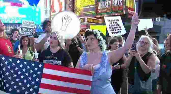 "Protests In Times Square Aim to ""Confront Corruption"""