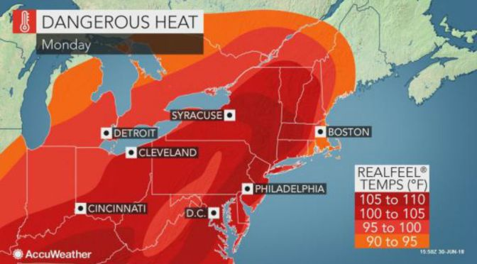 Intense Heat Wave Scorching Much Of U.S.