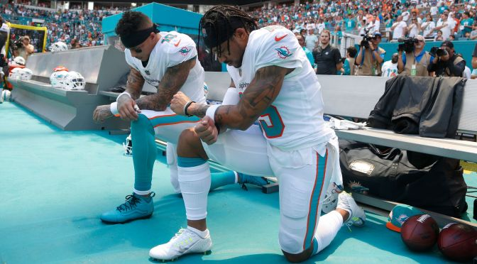 Two Miami Players Kneel During Anthem, Receive A Huge Thank You From Colin Kaepernick