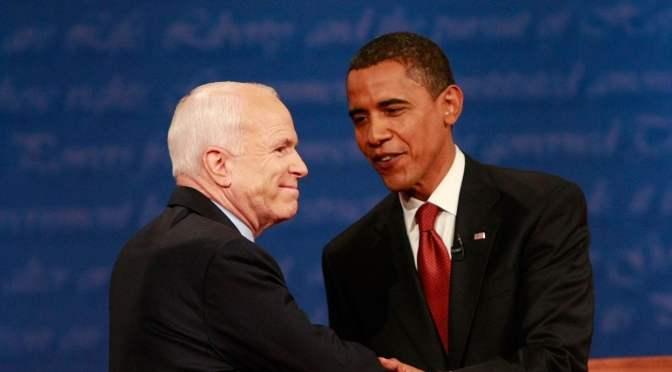 Former Presidents Barack Obama And George Bush Remember Senator John McCain