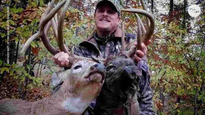 Man Shoots Buck With Decaying Head Attached To Its Antlers