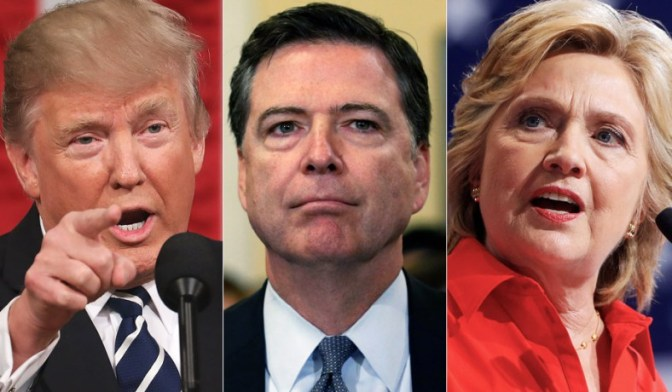 Report: Trump Asked Lawyers Ordering Prosecution Of Comey, Clinton