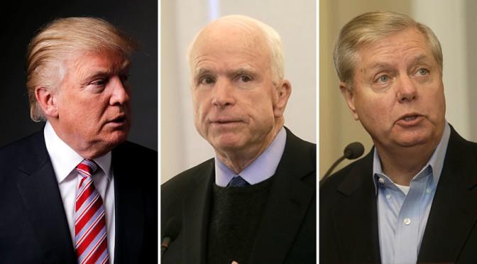 Graham Defending McCain From New Trump Attacks