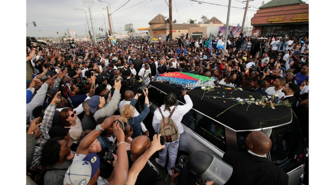 Thousands Line The Streets To Say Goodbye To Nipsey Hussle, Barack Obama Pens Letter