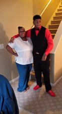 Sandra White and her 16-year son Arkeyvion. (Photo Courtesy of the Family)