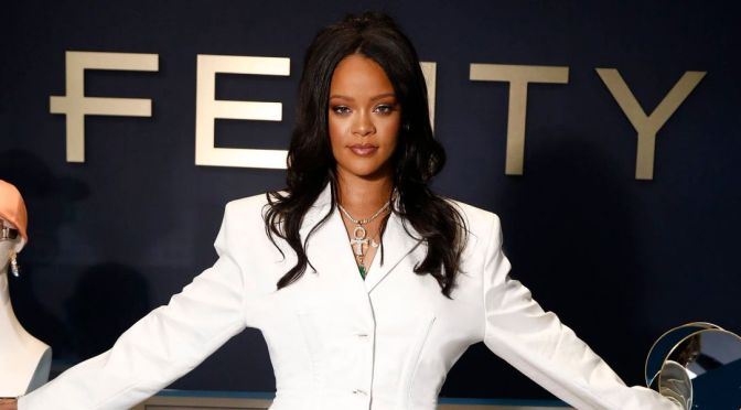 Rihanna Unveiling First Fenty Fashion Line In Paris