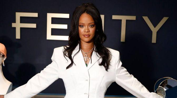 Rihanna Unveiling First Fenty Fashion Line In Paris
