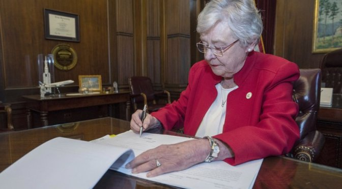 Alabama Governor Signs Strict Abortion Bill