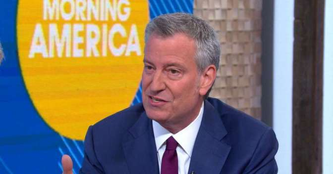 "De Blasio Calls President Trump ""Con Don"" on ABC's ""Good Morning America"""