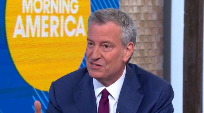 "De Blasio Calls President Trump ""Con Don"" on ABC's ""Good Morning America"""