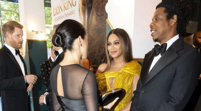 Meghan Markle Finally Meets Beyonce At Lion King Premiere