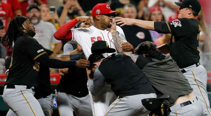 Tension Between Reds And Pirates Come To A Head With 5 Minute Brawl