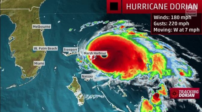 Hurricane Dorian Hits Bahamas As Category 5 Storm