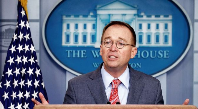 BREAKING: Mulvaney Appears To Confirm Military Aid Held Up Over Requests To Investigate Democrats