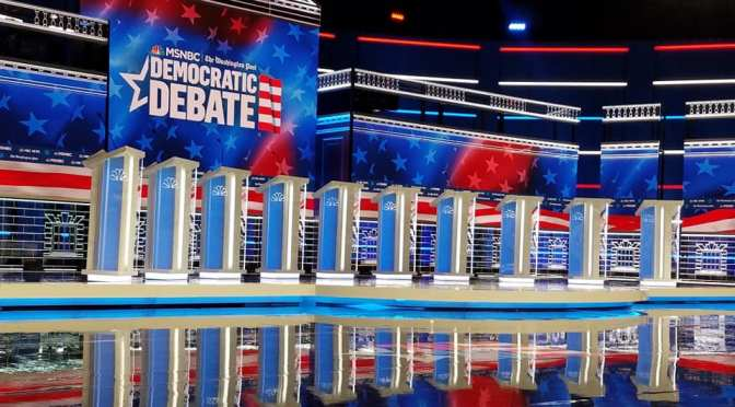 The Stage Is Set For The Democratic Debate